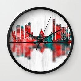 Kolkata West Bengal Skyline Wall Clock