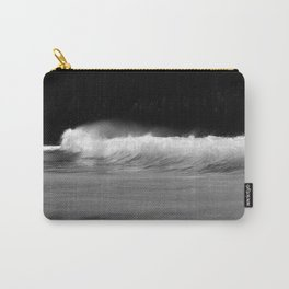 Waves - Black and White Carry-All Pouch