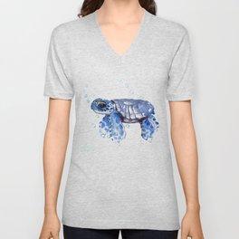 Baby Blue Turtle Unisex V-Neck