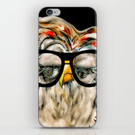 Hipster Owl iPhone Skin