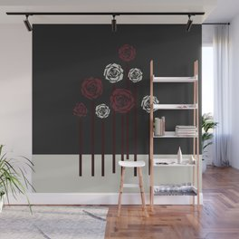 december roses Wall Mural