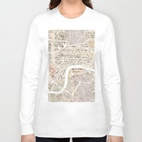 london map Long Sleeve T-shirts featuring LONDON by Mapsland