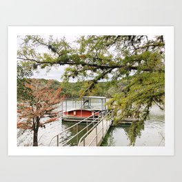 Texas Hill Country canoe Art Print