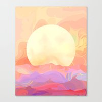 sunrise Canvas Prints featuring Sunrise by Okti