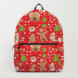 Gingerbread cookie pattern Backpack