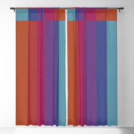 The Color Wheel / Rainbow Stripes Blackout Curtain