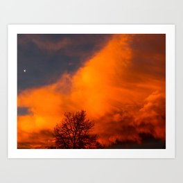 Orange Colorado Sunrise Art Print