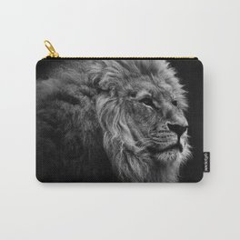 Black Print Lion Carry-All Pouch