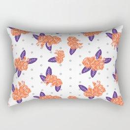 Floral clemson sports college football university varsity team alumni fan gifts purple and orange Rectangular Pillow