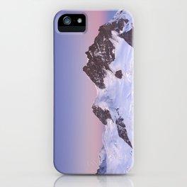 Dawn at the Jungfrau peak from Jungfraujoch in Switzerland iPhone Case