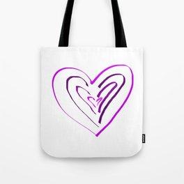Purple Heartbeats Tote Bag