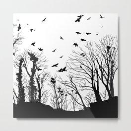 rooks and trees 1 Metal Print