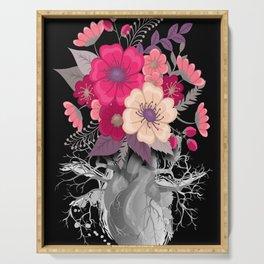 Flower Heart Spring 2 Serving Tray