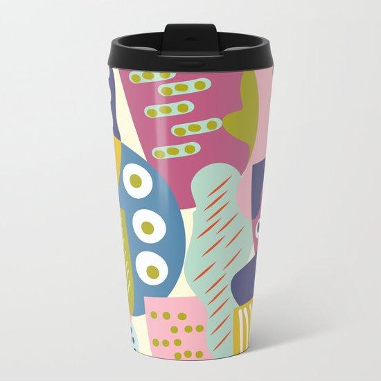 Colourful print Metal Travel Mug