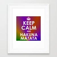 hakuna Framed Art Prints featuring hakuna matata by  Alexia Miles photography