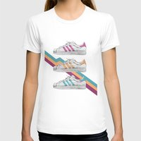 sneakers T-shirts featuring My old Sneakers by Crazy Cool Animals