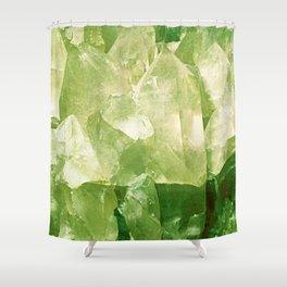 Green Gems Shower Curtain