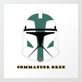 Helmet clone trooper commander gree Art Print