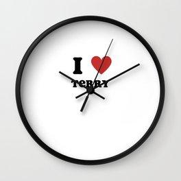 I Love Terry Wall Clock