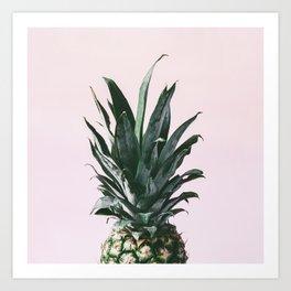 Pink pineapple top Art Print