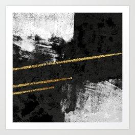Gilded Grit Art Print