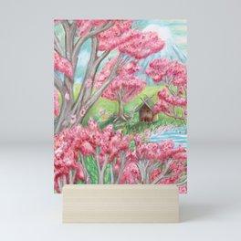 Sakura Blossoms Landscape Mini Art Print