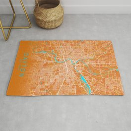 Dayton, OH, USA, Gold, Blue, City, Map Rug