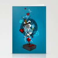 gaming Stationery Cards featuring I ❤ GAMING by Mikhail St-Denis