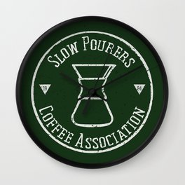 Slow Pourers Coffee Association Wall Clock