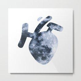 Moony Heart Metal Print