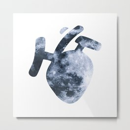 Moony Heart Metal Print