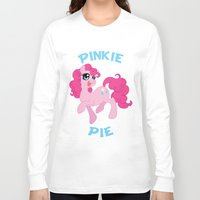 mlp Long Sleeve T-shirts featuring MLP FiM: Pinkie Pie by Yiji