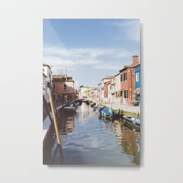 Sunny afternoon in Burano Metal Print