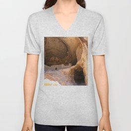 Ancient Pueblo - Gila Cliff Dwellings Unisex V-Neck