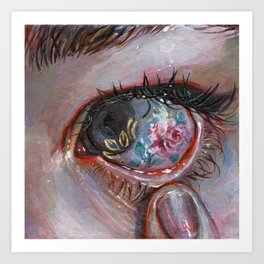 Beauty in The Eye Art Print