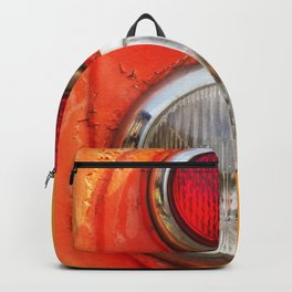 Headlight taillight of a train Backpack