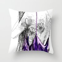florence Throw Pillows featuring Florence by jsemKamm