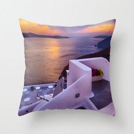 Santorini 24 Throw Pillow