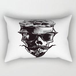 Skull and Prescription Pills Rectangular Pillow