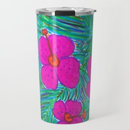 Hawaii Dreams Hibiscus Print Travel Mug