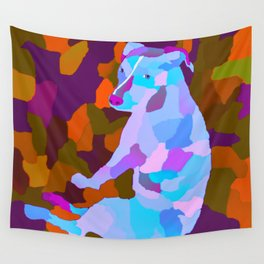 Camouflage Petra the pitbull version three Wall Tapestry