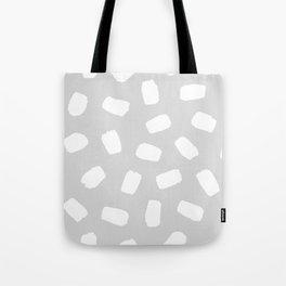 Grayscale Brushstrokes Tote Bag
