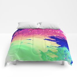 Wild Color Abstract Comforters