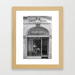 Traditionnal Tuscany Shop in Lucca Italy Framed Art Print