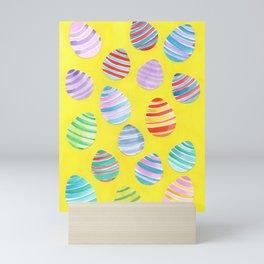 Easter Egg Watercolor Pattern -  Yellow Mini Art Print