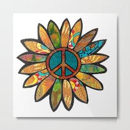 Earthy Peace Flower Metal Print
