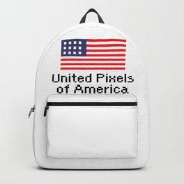 United Pixels of America (USA 8bit Flag) Backpack