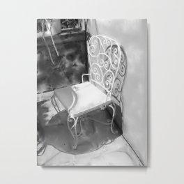 The Rod Iron Chair Metal Print