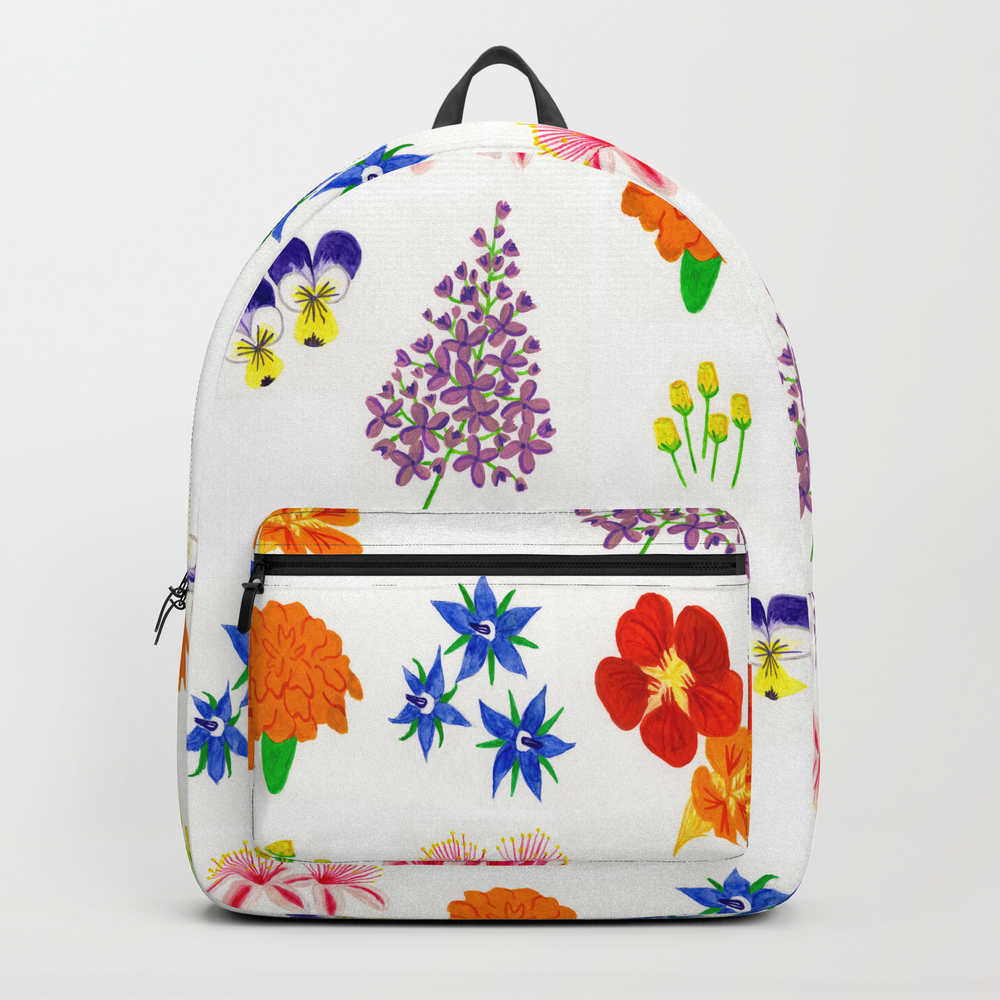 Edible Flower Pattern Backpack by Bethnewcott BKP7419723