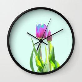 fuchsia tulip Wall Clock
